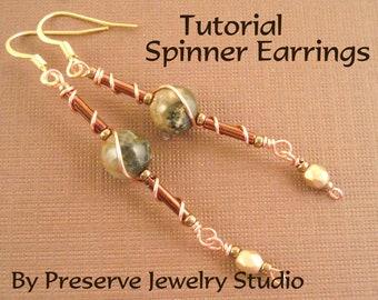 Wire Wrap Earring Tutorial, Wire Wrap Tutorial, Seed Bead Earring Pattern, Earring Pattern, Earring Tutorial
