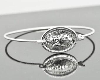 Pope John Paul II, Pope John Paul II Bracelet, Sterling Silver Bangle, Sterling Silver Bracelet, Christian Jewelry, Catholic Jewelry