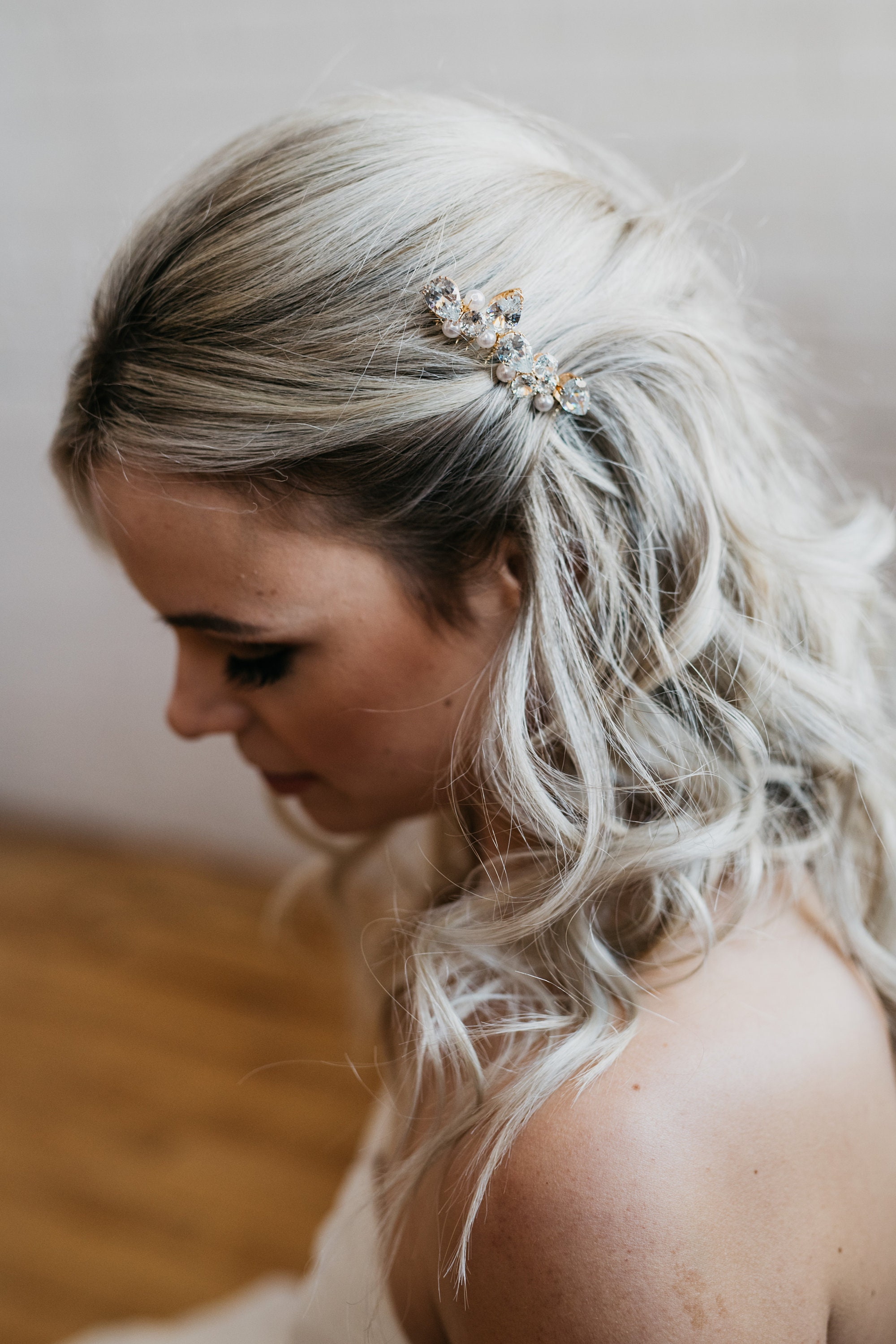 bridal hair comb gold crystal hair comb wedding hair comb