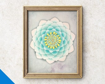 Lotus ART PRINT, Peaceful art, Inspirational art, Yoga studio decor, Meditation wall art, Meditation decor, Lotus wall art, Mindfulness gift