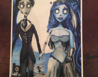 the corpse bride drawing *print*