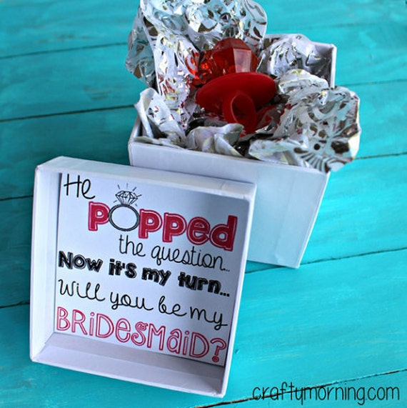 He Popped The Question Now Its My Turn Bridesmaid Ring