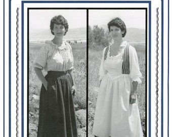 Woman's 1700s-1800s Skirt, Petticoat & Aprons sizes 8-20 Eagle's View Sewing Pattern #57 - Historic Pioneer, Colonial Costume