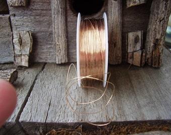 30 gauge 14K gold filled wire 5 feet