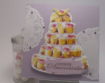 Birthday cake cake card