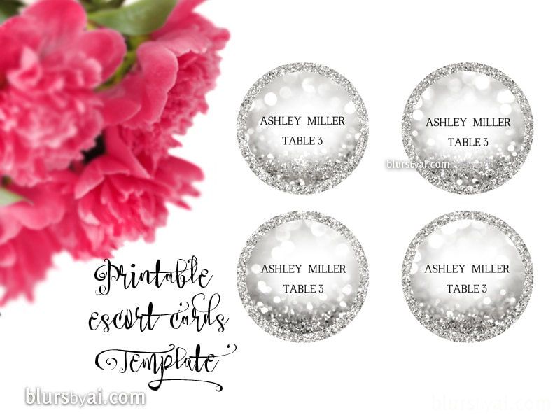 It's just a picture of Adorable Printable Escort Cards
