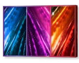 metallic vibrancy / wall art canvas design