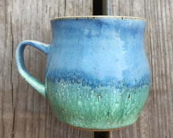 Handmade wheel thrown ceramic mug