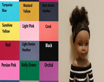 Off Shoulder Top for 14.5 inch dolls such as Wellie Wishers