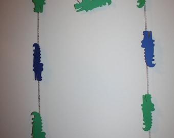 Alligator Die Cut - Paper Banner Garland