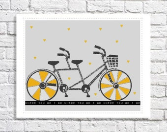 Tandem Bicycle Print Bicycle Built For Two Art Tandem Bike Wedding Decor Couples Quote Artwork Best Friend Gift Idea Twin Sisters Room Decor