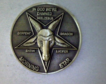 "LUCIFER MORNINGSTAR TV hit series 1  1/4"" solid brass coin"
