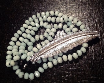 Nice long feather necklace