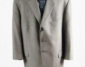 Vintage Marco Ricci Blazer Men's Made in Italy Wool Silk UyQKqhi