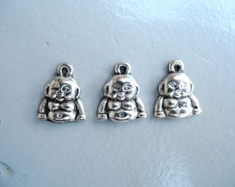 """Buddha"" silver plated nickel free charm"