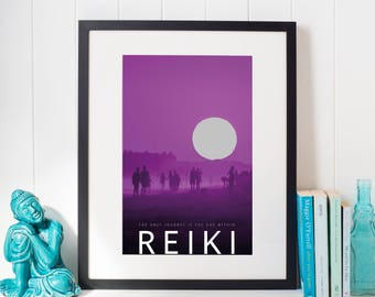 A4 Reiki Poster for Digital Download