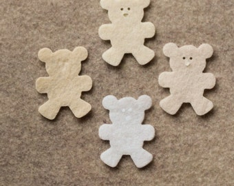 Antique Lace - Teddy Bears - 24 Die Cut Felt Shapes