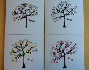 4 Handmade Notelets/blank cards (set of 4)