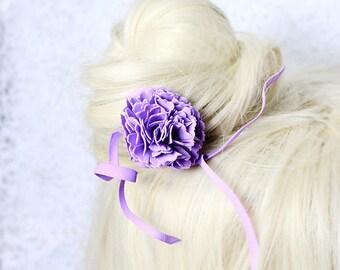 purple hair accessory/for/bride purple hair jewelry women gifts purple flower jewelry/for/hair purple gifts girlfriend birthday ideas D4