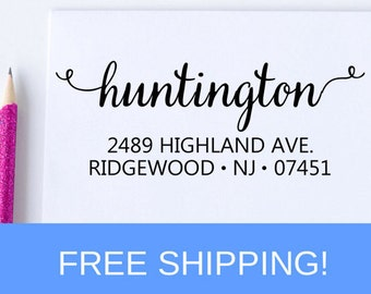 Return Address Stamp, Custom Address Stamp, Personalized Stamp, Self Inking Stamp, Wedding Stamp, Housewarming Gift   (D106)