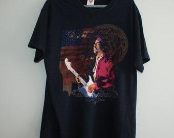 Jimi Hendrix shirt, Jimy Hendrix United States flag t-shirt, Jimi Hendrix Vintage t-shirt, Vintage Band T-shirt, Rock Music Tee