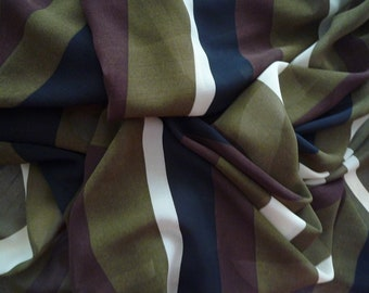 50 * 120 cm khaki striped polyester voile fabric