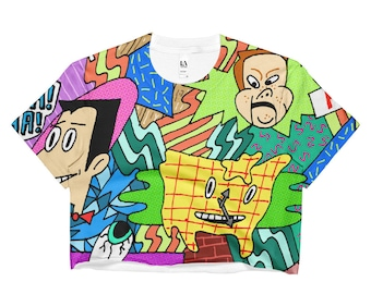Pee-Wee's Playhouse All Over Crop Top
