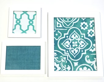 Fabric Art Wall Accent Aqua Turquoise