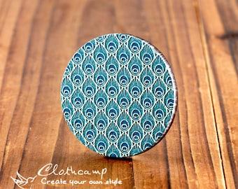20% off -2Pcs 45mm Unique 3D Embossed Big Round Handmade Geometry Wood Cut Cabochon  to make Necklaces, Bracelets-(WI-B-5)