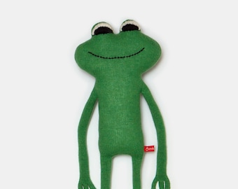Felippe the Frog Lambswool Plush Toy - Made to order