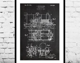 Locomotive print locomotive poster locomotive patent train locomotive patent train locomotive poster train locomotive print train locomotive art train blueprint train decor malvernweather Choice Image