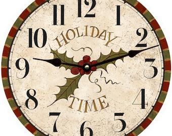 Holiday Wall Clock/Christmas Clock