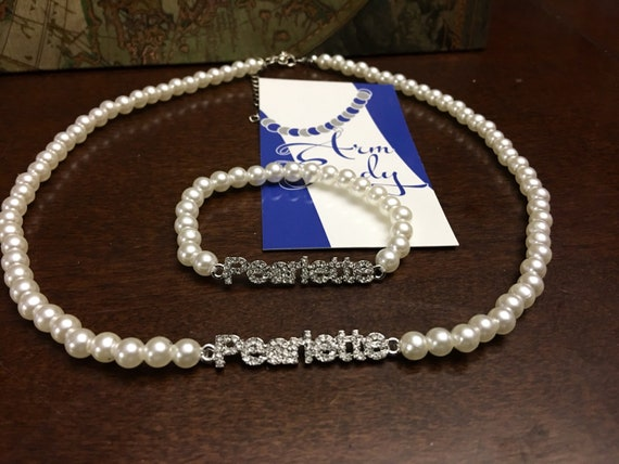 ZYA Pearlette Pearl Necklace and Bracelet Set
