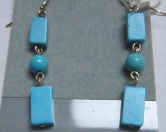 Chalk Turquoise Drop Earrings