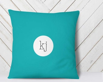 Monogram Throw Pillow, Monogram Pillow, Blue Throw Pillows, Teen pillows, Pillow Monogram, Monogrammed Gifts for Her, Initial Pillow Cover