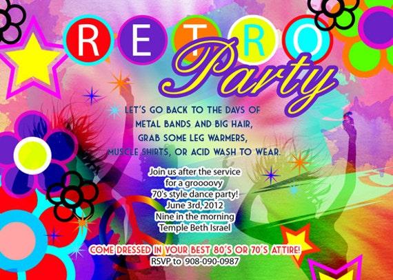 retro party invites Alannoscrapleftbehindco