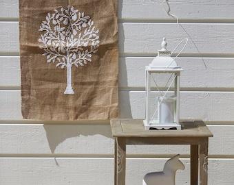 Scandinavian textile wall art PEAR TREE - cross stitch,needlepoint,embroidery,modern cross stitch,diy,swedish,pattern,white,anette eriksson