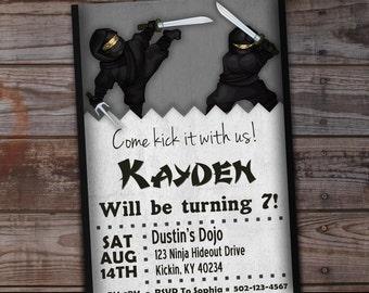 Ninja Birthday Invitation, Ninja Boy Birthday Boy, Karate Birthday Invitation, Ninja Party Invitation, Printable Birthday, Ninjas