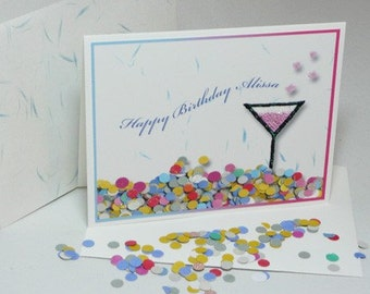 CUSTOM BIRTHDAY Card confetti filled
