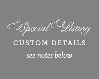 Special Listing for Custom Monogram
