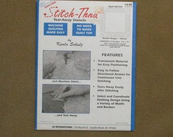 EZ Quilting Stitch-Thru Tear Away Stencils By Karla Schulz 18 Border Designs Hearts Machine Quilting Style 6103