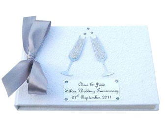 25th Anniversary Champagne Guest Book