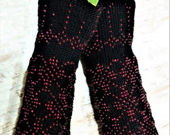 Arm Warmers Pulswärmer with glass beads fingerless