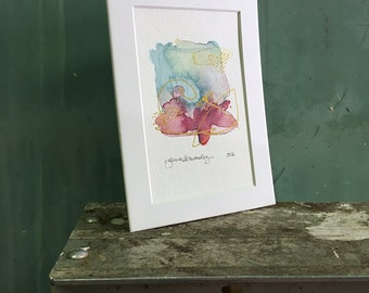 wing / original watercolor / one of a kind painting