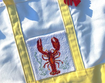 Whimseytopia Punch Needle Pattern:  Lobster Beach Bag