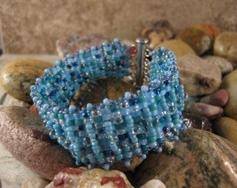 Square Stitch Cuff Bracelet
