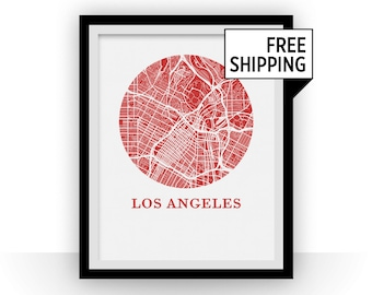 Los Angeles Map Print - City Map Poster