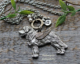 Leonberger Angel Necklace, Leonberger Jewelry, Pet Memorial Jewelry, Leonberger Sympathy