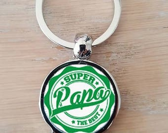 "Keychain bottle opener ""SUPER dad the best"""