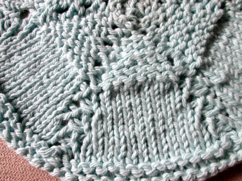 Round Dishcloth Knitting Pattern, Circular Dishcloth Knitting ...